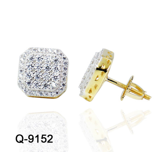 Factory Whole New Style Fashion Jewelry 925 Sterling Silver Hip Hop Stud Earrings For Men