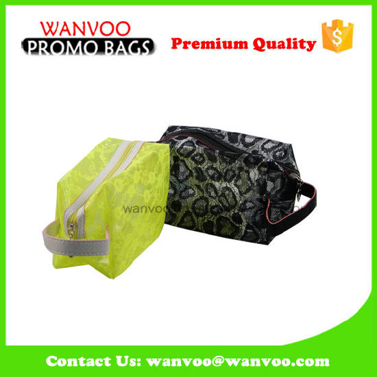 2016 New Colorful Lace Mesh Cosmetic Bag with Handle pictures & photos