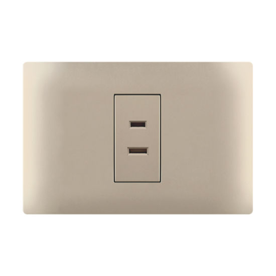 1 Gang 2 Pin Wall Electric Socket Outlet