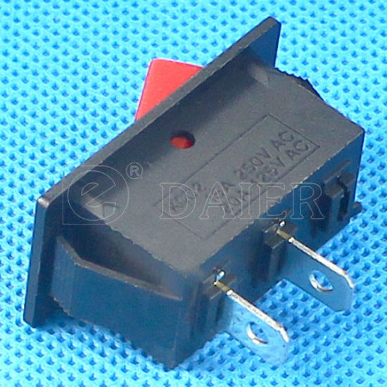 Red/Black Color 15A 125VAC Rocker Switch pictures & photos