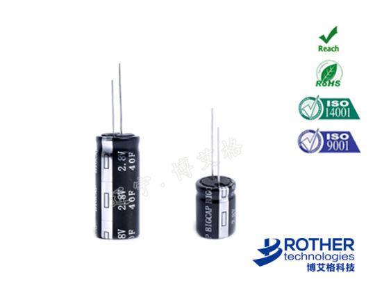 Cylindrical High Temperature Farad Capacitor 2 7V 4 7f Supercapacitor