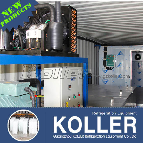 Koller 10 Tons/Day Containerized Ice Block Machine/Block Ice Machine for Coastal Region Fishing pictures & photos