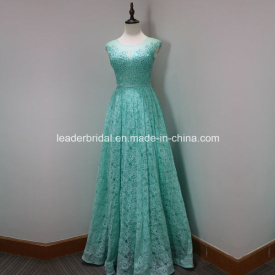 Lace Party Prom Gown Beading Stock Cheap Bridesmaid Evening Dress A17198 pictures & photos