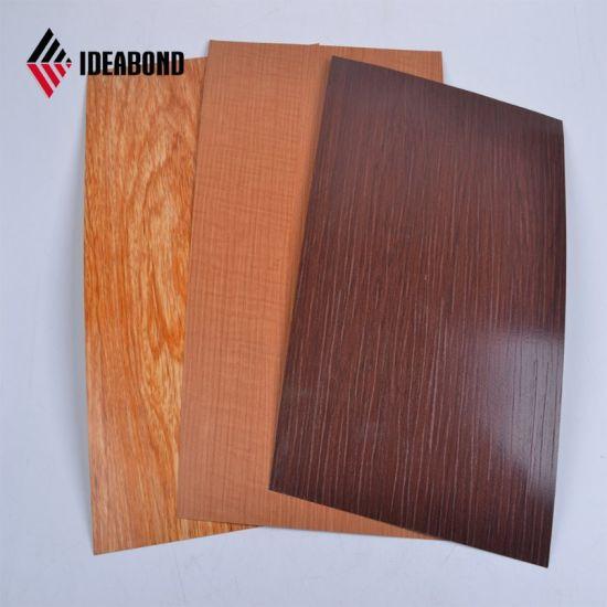 3mm 6mm Exterior Wood Finish Aluminium Composite Panel (AE 306)