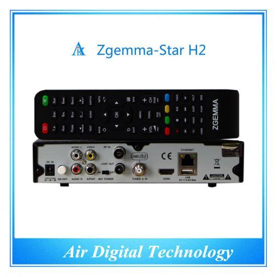FTA Satellite Receiver Zgemma Star H2 with S2+T2/C