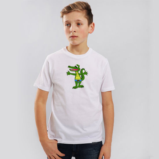 100%Cotton Childrens Crew Neck T-Shirt with Custom Logo