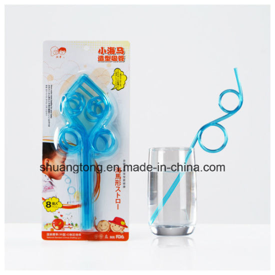 Pet Material Hard Multi-Shaped Crazy Straw pictures & photos