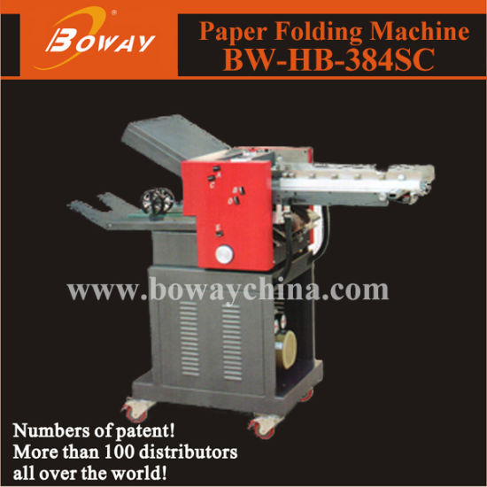 Boway 22000sheets/Hour Industrial Paper Folding Machine with Cross Folder 384sc
