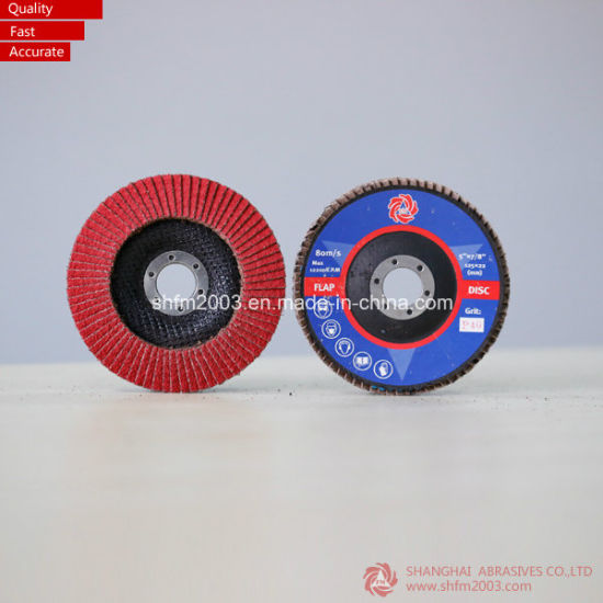 115mm, P40, T29 Ceramic Abrasive Flat Flap Disc for Gringding Metal pictures & photos
