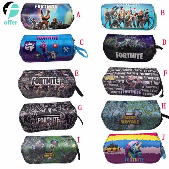 China Anime Fortnite Battle Royale Pencil Bags Students School