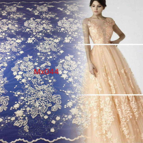 New Fashion Bling Sequins Embroidery Shiny Embroidery for Bridal Dress or Wedding Dress