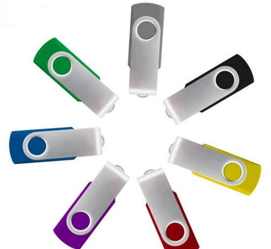 Wholesale Factory Price Swivel Type Stick USB Flash Drive with Customized Logo4GB, 8GB, 16GB