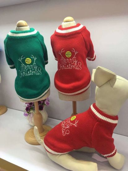 Design Cute Knitting Holiday Pet Clothing Christmas Dog Sweaters pictures & photos