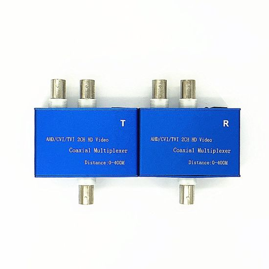 2 Channel HD-Cvi/Tvi/Ahd Coaxial Video Multiplexer Over Coaxial Cable (HDCM102T) pictures & photos