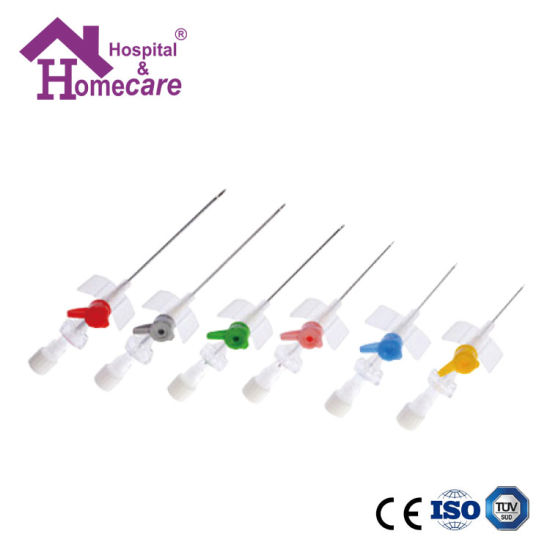Ce/ISO Disposable Medical Sterile IV Catheter with Injection Valve (MW185C)