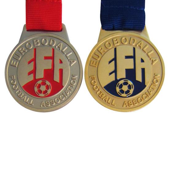 Promotional High Quality Enamel Metal Football Association Sport Medals (052)