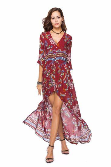 China Manufacturer Wholesale Women Plus Size Long Dress For Summer