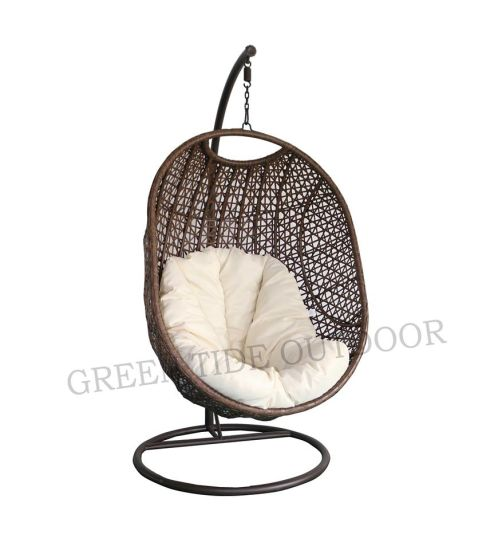 Charmant Patio Outdoor Wicker/Rattan Egg Chair
