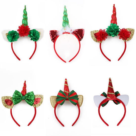 Christmas Headband Craft.China 2018 New Arrival Hair Accessories Unicorn Headbands
