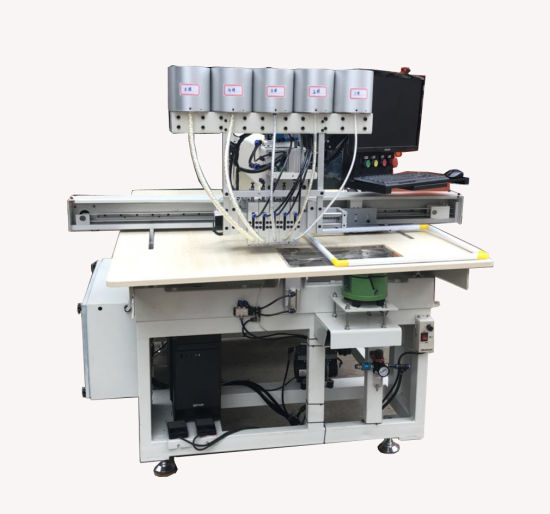 High Precision Automatic Computerized Pattern Pearls Attaching Machine