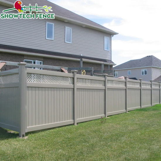 Perfect Looking 6u2032h/8u2032w PVC Plastic Garden Privacy Lattice Fence Panels