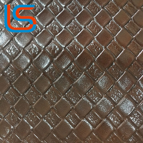 Brown Tone Oily Surface PVC Decorative Leather pictures & photos