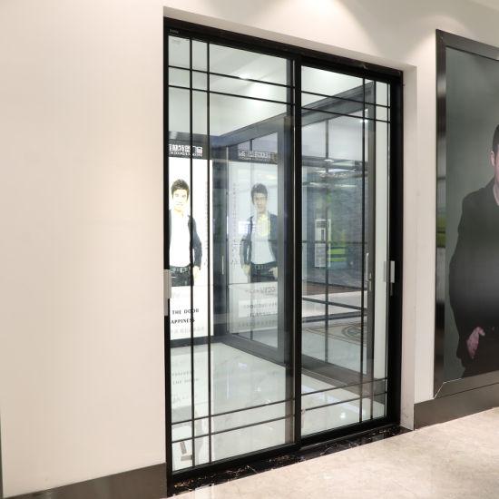 New Popular Italian Slim Tempered Glass Aluminum Sliding Doors