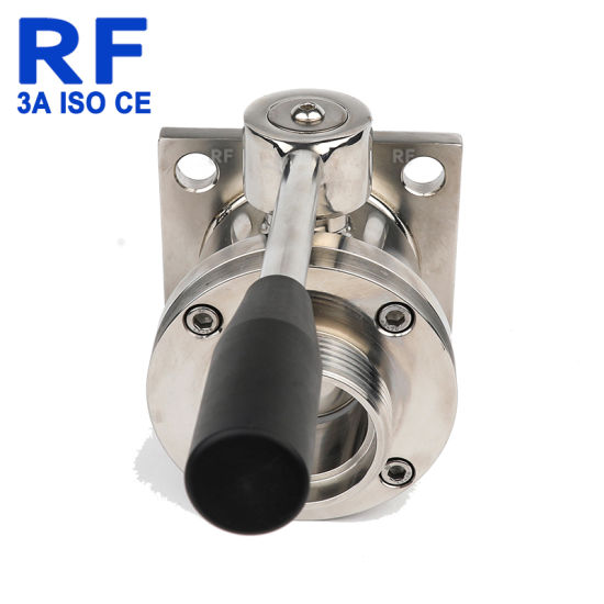 RF Wholesale Sanitary Steel Direct Way Manual Ball Valve