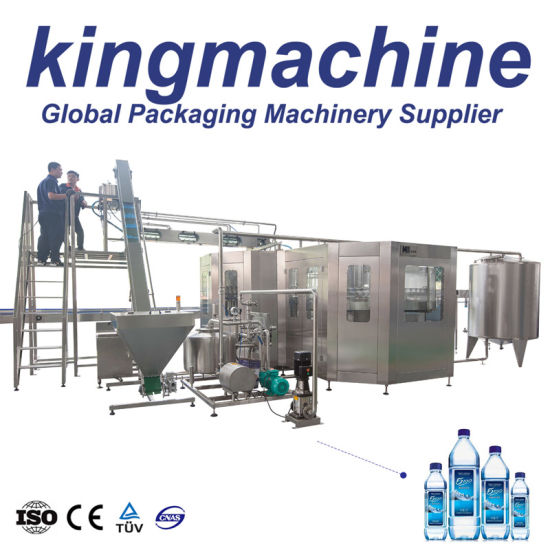 Turnkey Monoblock Automatic Pet Bottle Aqua Natural Drinking Water Bottling Line Mineral Pure Complete Plant Soft Drinks Water 3 in 1 Filling Bottling Machines
