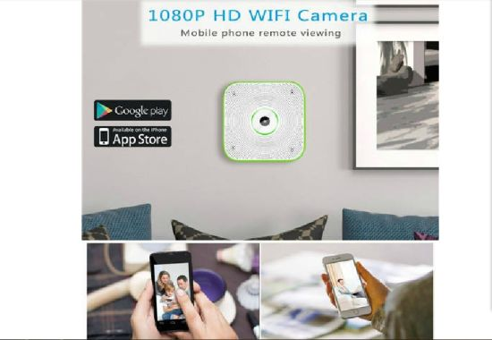 HD 1080P Wireless Indoor Security Camera with Motion Detection Alarming, Pm2.5 Sensor (White) Wc001yg08