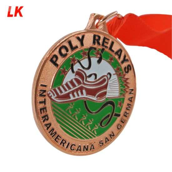 Promotional Customized Zinc Die Cast Ribbons Trophies Military Medal