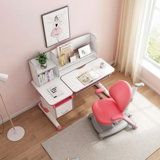 Wholesale Modern Ergonomic Adjustable Wooden Table and Chair Kids Bedroom Furniture Set for Children Study