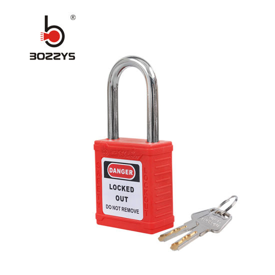 Steel Shackle Nylon Body Industrial Safety Padlock with Keyed Alike