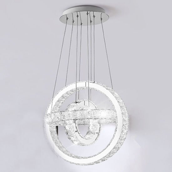 Pendants Modern LED Crystal Chandelier Lamp for Living Room