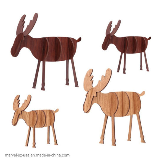 DIY Wooden Elk Ornaments Children's Gifts Home Christmas Decoration