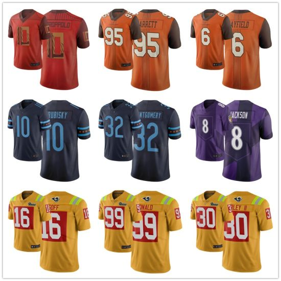 N-F-L 2019 City Edition Wentz Brees Mayfield Football Jerseys Wholesale