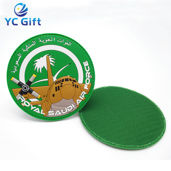 Customized 2D/3D Clothing Label Printing PVC Rubber Sticker Patch Military Tactical Gear Patches with Design Logo (PT01-C)