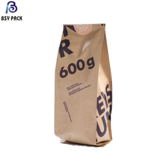 Made in China Biodegradable Stand up Pouch Kraft Paper/Pbat Bag for Food & Tea & Coffee Packaging