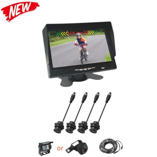 4 Sensors and a Camera Rear View Monitors Video Parking Sensors for Car/Bus/Truck
