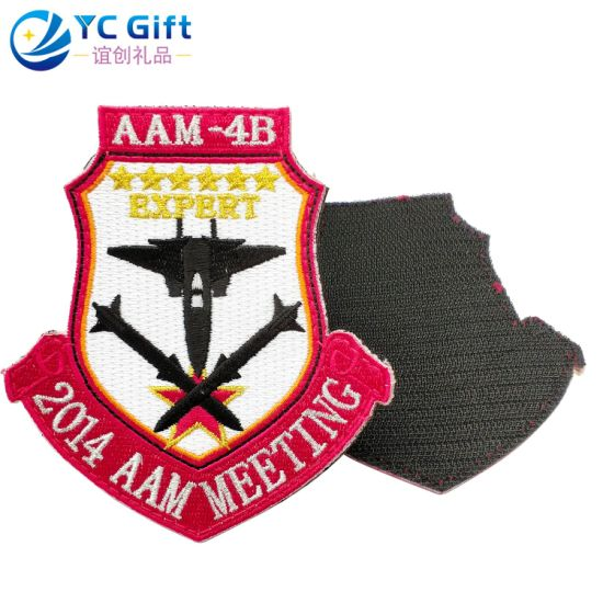 Wholesale Custom Garment Accessories Embroidered Badge 3D Police Patches Iron on Fashion Shoes Label Printing Sticker America Flag Patches Emblem (PT17-D)