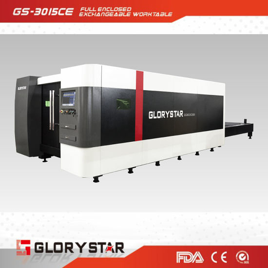 China 1000W Fiber Metal CNC Laser Cutter Used in