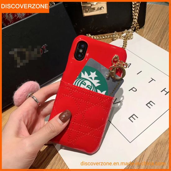 High Quality Brands Logo Leather Mobile Phone Case for iPhone Fashion Accessories