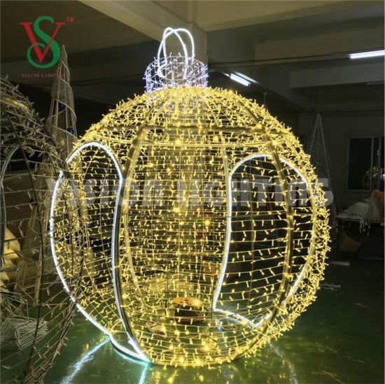 Outdoor Lighted Decorating Christmas Big Balls Even Decoration Giant Ball Motif Light