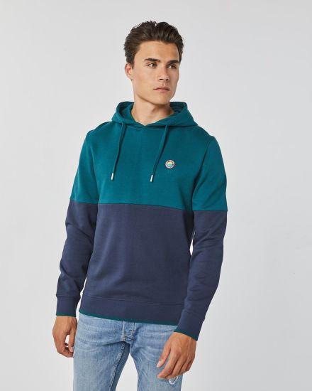 Men Fashion Long Sleeve Jumper Sweater Sports Wear with Hoodie