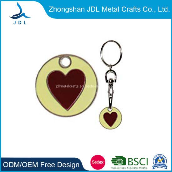 China Custom Supermarket Shopping Iron Stamped Trolley Token
