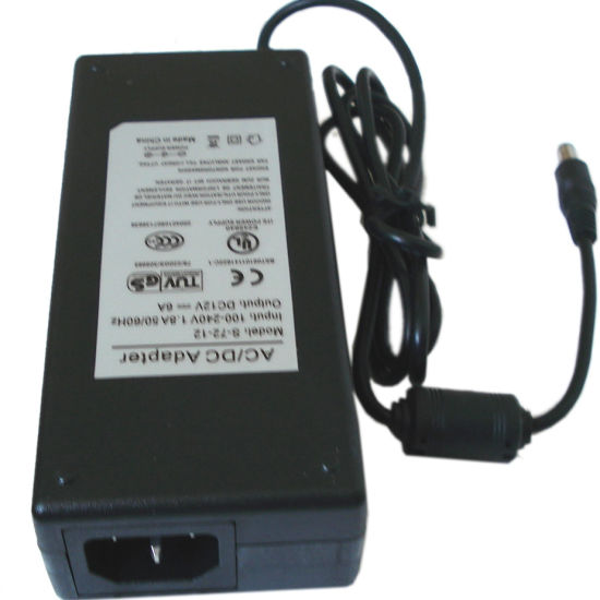 12V6a 75W Laptop AC DC Switching Power Adapter with TUV Ce CB SAA C-Tick IEC Certificate