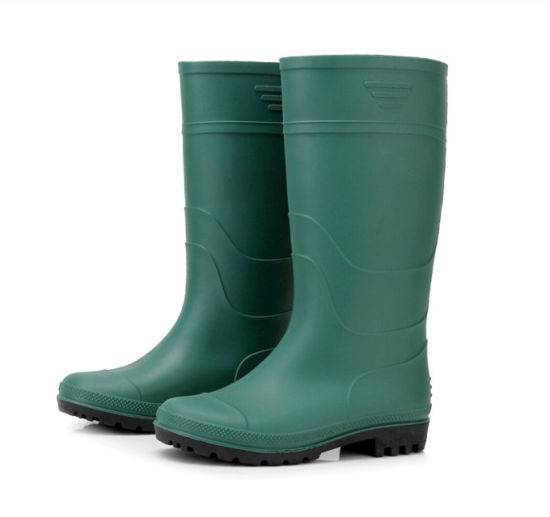 Green Rubber Safety Rain Boots in Guangzhou Wholesale