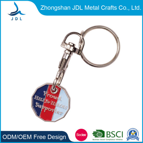Cheap Custom Blank Supermarket Car Wash Metal Key Chain Canadian Shopping Cart Coin Game Lock Trolley Token Coin 61