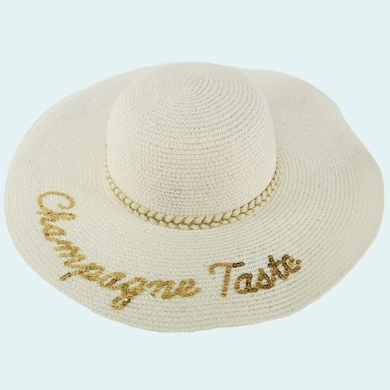 Custom Embroidered Beach Large Oversized Floppy Straw like Sun Hat  YOUR NAME or QUOTE
