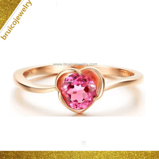 7615b61ac814f Factory Customized Wholesale Fashion Jewelry 18K Yellow Gold Plated Diamond  Ring with Pearl